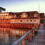 The Inn during sunset from the pier