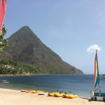 Gros Piton from beach