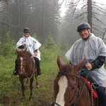 Kelowna Stables trail ride was fantastic, even on a misty day in the Okanagan. Our trail guide,