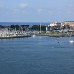 Uitzicht op de Franse kust vanuit ons kamer