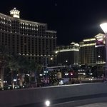Bellagio and Caesar's at night