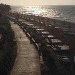 Stranden i sista solstrålen
