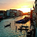 A beautiful Venetian sunset from our window.