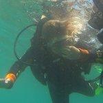 my granddaughter scuba diving