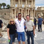 With Ali Arslan at the Library at Ephesus
