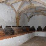 sala onde guardavem as talhas de azeite