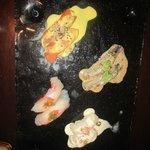 nigiri with peruvian flavors