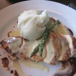 Grilled Chicken Breast with Dijon, Balsamic creamy sauce