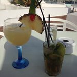 Cocktails from blue bar (half board)