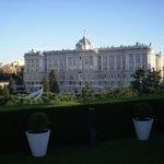 Vista do palácio real do hotel