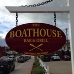 Boathouse street side sign