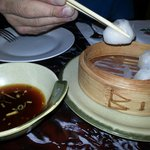 Crystal shrimp dumpling dim sum