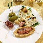 Antipasti at the restaurant