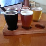 Beer sampler.  The Chocolate Pecan Milk Stout was outstanding!