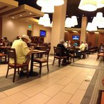 Restaurant eating area