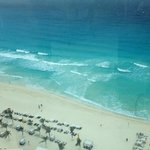 View of beach from the sky bar