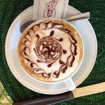 Designer cappuccino for breakfast
