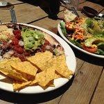 Quesadilla and salad at Sprouts