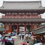 Asakusa Shrine on a wet day