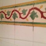 Grungy bathroom.