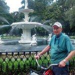 Savannah Bike tour at Forsythe Park fountain