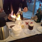 Flaming coffee