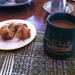 Ginger Scone & coffee.