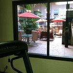 View from workout room
