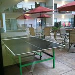 Ping Pong table outside the workout room