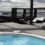 roof top hot tub area