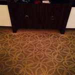 You can see how clean the carpet is under the cabinet. :x