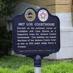 Log Courthouse sign