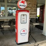 Old Gas Pump Outside Lobby