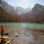 My daughter enjoying the beautiful lake