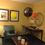"Decorated by the hotel staff for my husband coming ""home"" from the hospital (where he was for ~2"