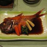 堂ヶ島温泉ホテルの夕食、すごくおいしかった金目鯛の煮付け