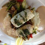 Dungeness crab stuffed petrale sole