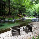 Chairs along the Big Sur River