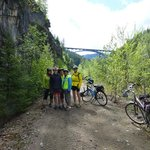 Pedalling the KVR, Bonanza to Christina Lake - May 2014