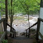 Stairway to Pemi between Cabins 8 and 9