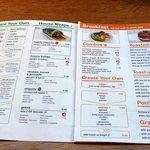 Healthy foods menu