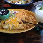 Chicken enchiladas verdes and a great margarita!