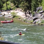 The Payette River Flyer is so named because it follows the whitewater and peaceful river.  See t