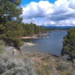 Crown Point Trail offers everyone great vistas on a level trail along Lake Cascade, quiet & peac