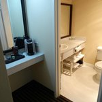 Coffee area nd bathroom Room 704