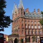 St. Pancras Station on a sunny day