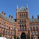 The hotel entrance at St. Pancras Station