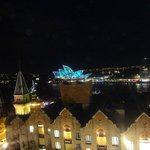 Vivid Sydney from the hotel's rooftop