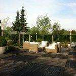 Salon d'été en terrasse