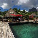 Bora Bora Yacht Club with Mount Otemanu